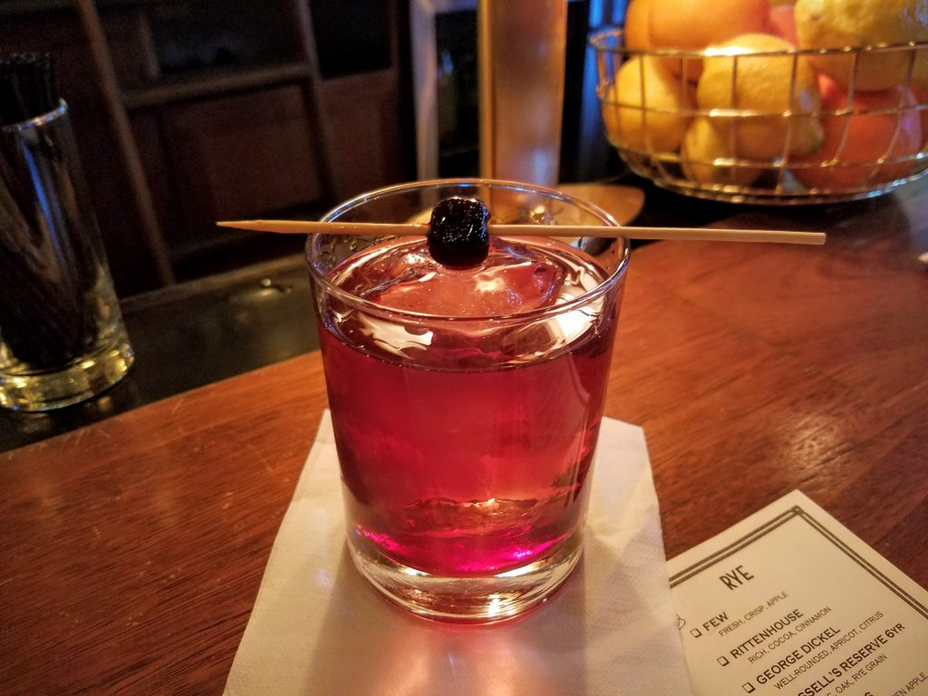 A Bartenders Choice Manhattan