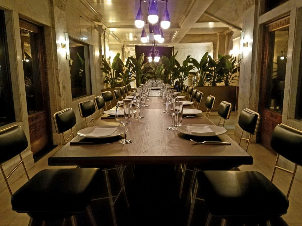 Room 118 - the private dining experience that highlights the building's architectural history