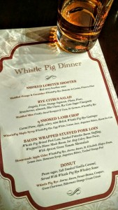 WhistlePig and Chicago q Dinner Recap