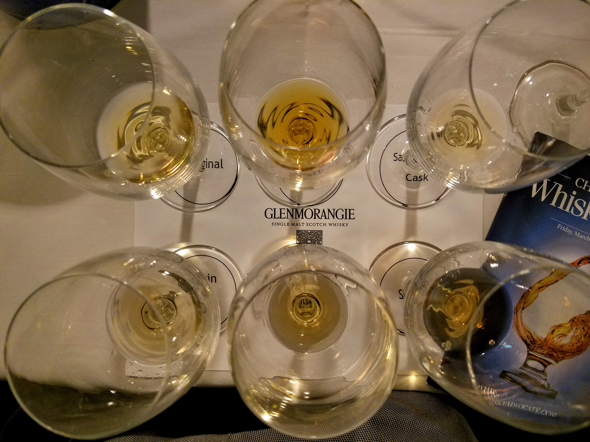 Glenmorangie samples