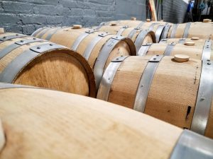 New charred oak barrels