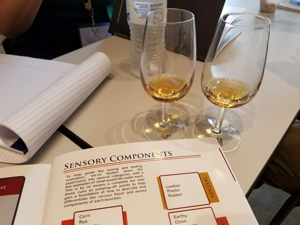 Bourbon samples and notes