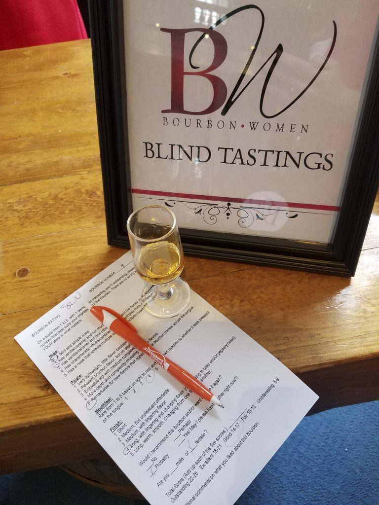 One of the blind tastings and tasting worksheet.  We rated nose, palate, mouthfeel, and finish.