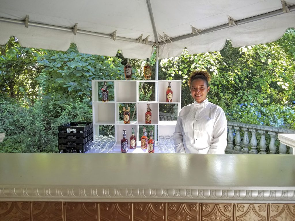 Our lovely bartender for the outdoor reception.  This is just a glimpse of the refined, southern aura evident throughout the evening.