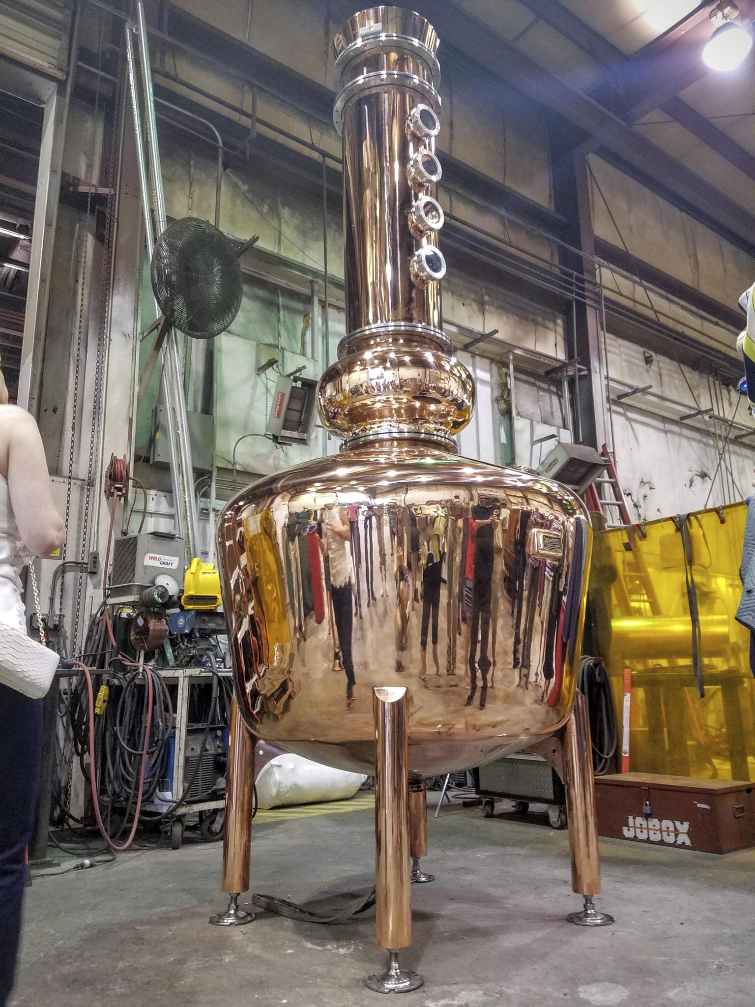A brand new Vendome copper still