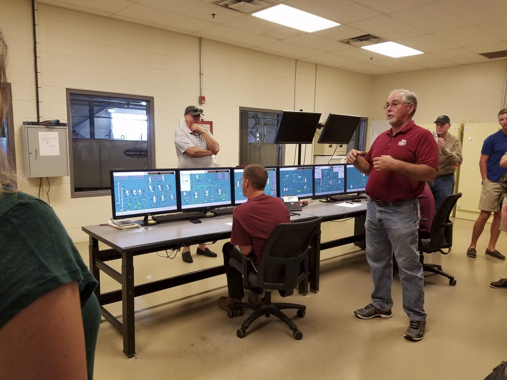 One of the bonus stops on the tour was a view of the control room.  This system was built completely custom to Wild Turkey's process.