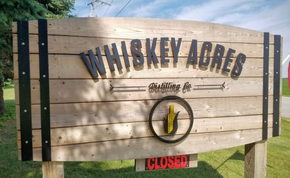 Whiskey Acres Sign