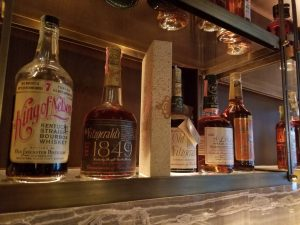 A sampling of some of the antique whiskeys on display