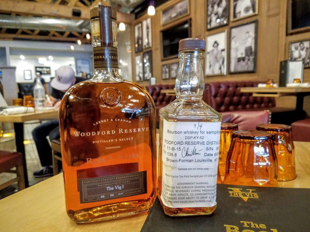 The sample bottle alongside the finished product