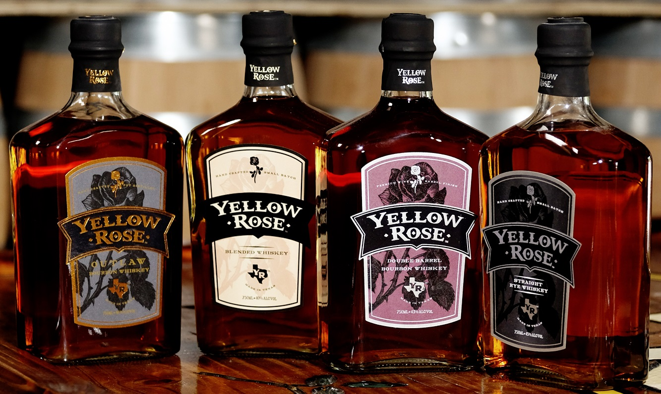Yellow Rose Distilling Bottles