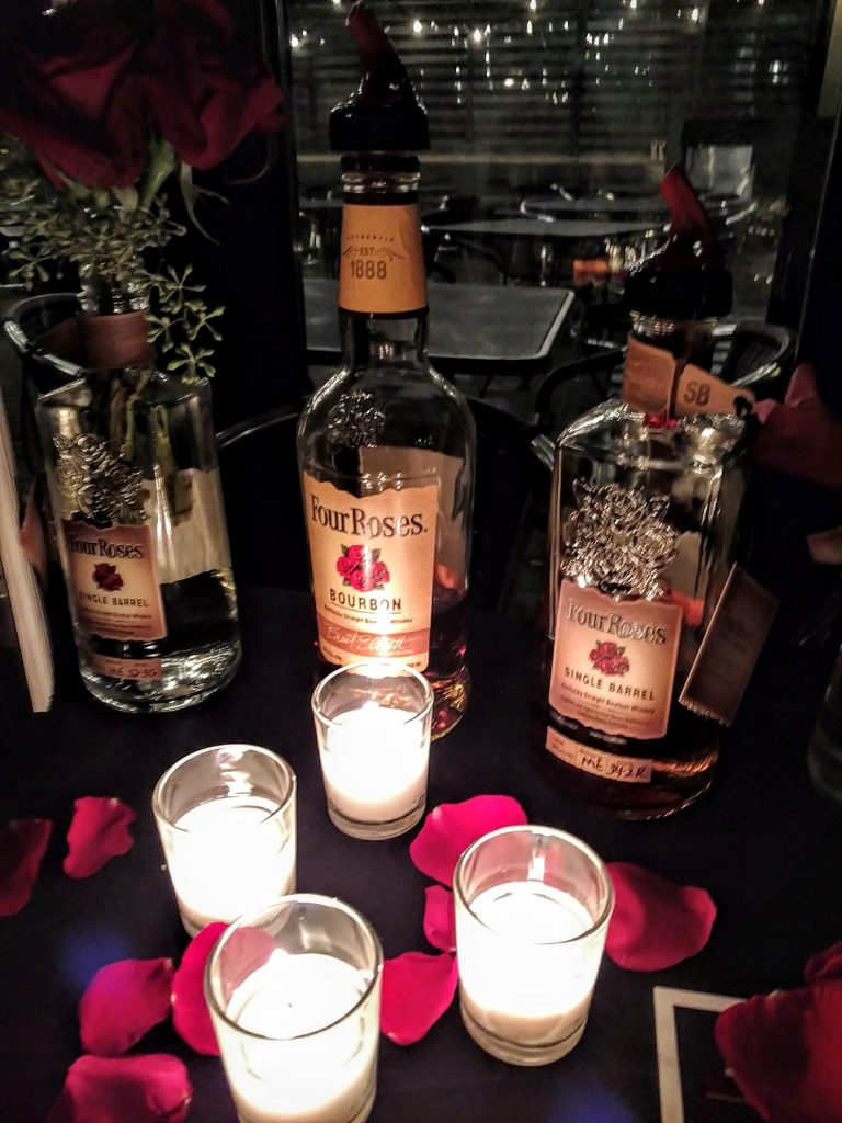 A few Four Roses bottles