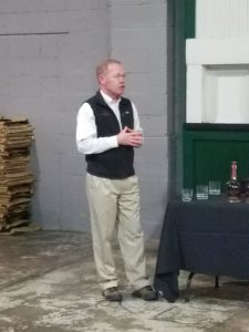 Chris Morris describing this year's Brandy Cask Finish Master's Collection