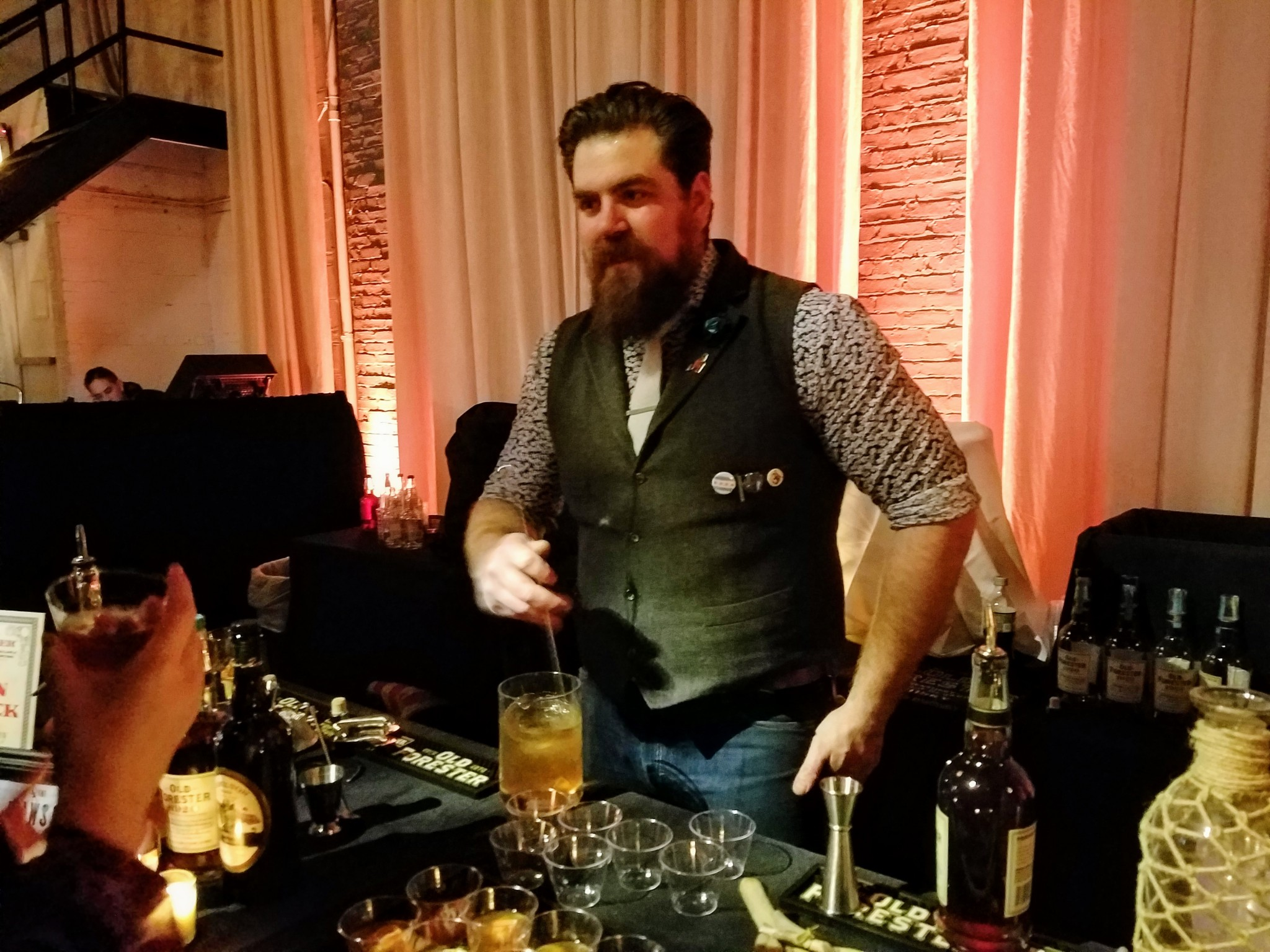 The Dawson's Aaron Pollack working on 'The Olde Dinghy'. Old Forester 1920 Prohibition Style.