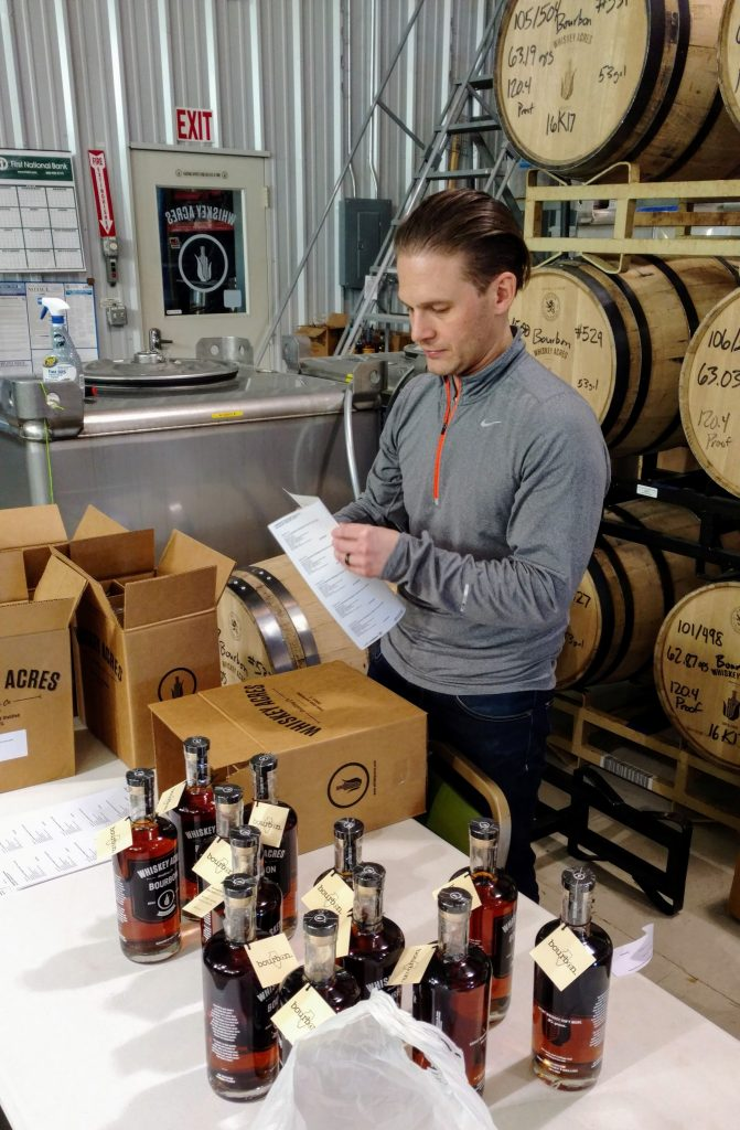 Packing up bottles and applying labels.  The glorious part of the job.