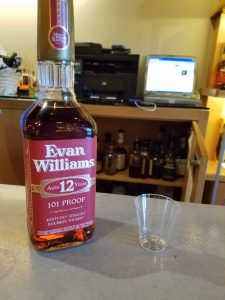 Evan Williams 12 Year (and a secret cabinet full of bourbon!)
