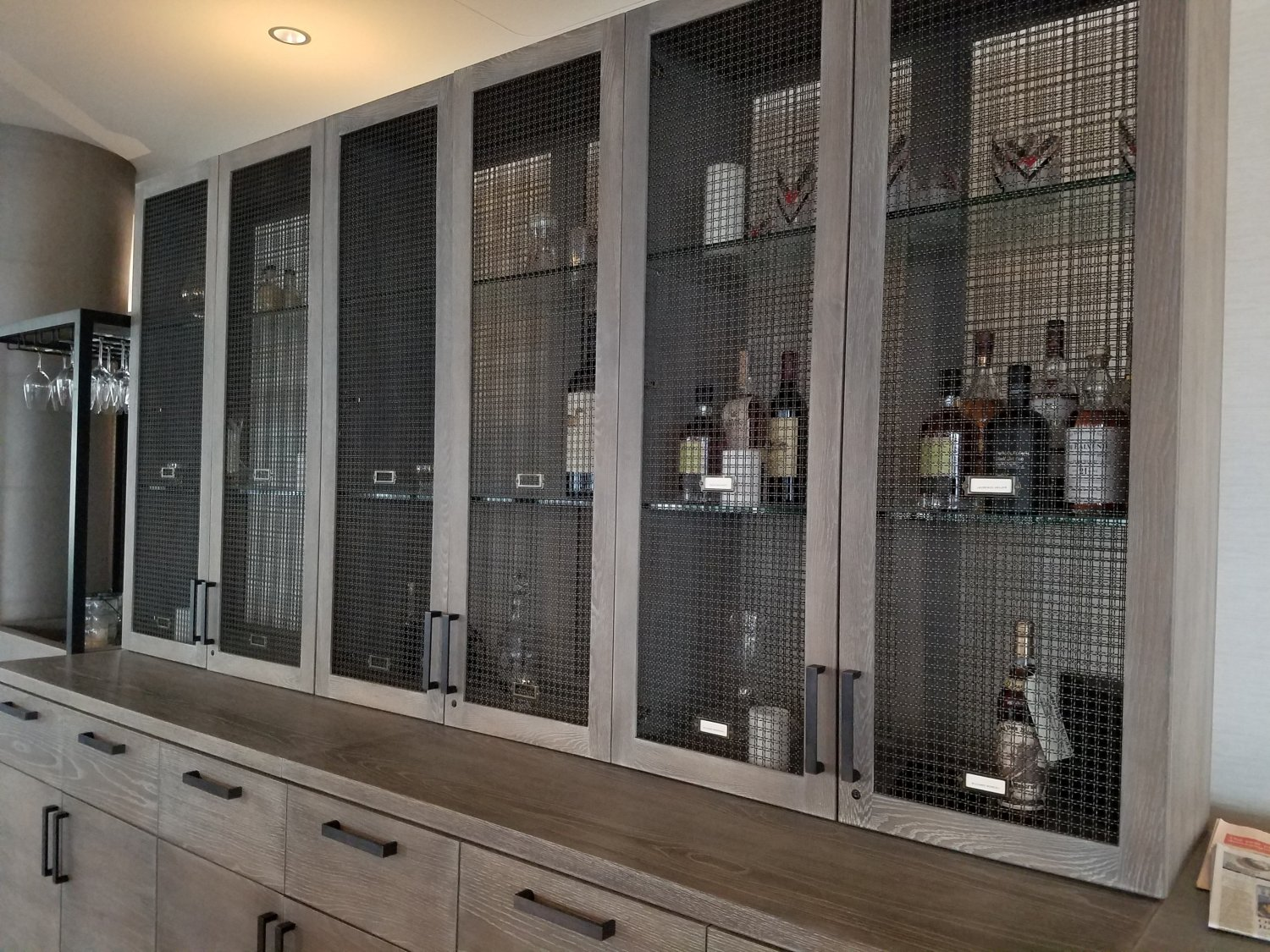 The wall of Bourbon lockers. Buy a bottle from the bar and store it here for your personal enjoyment.