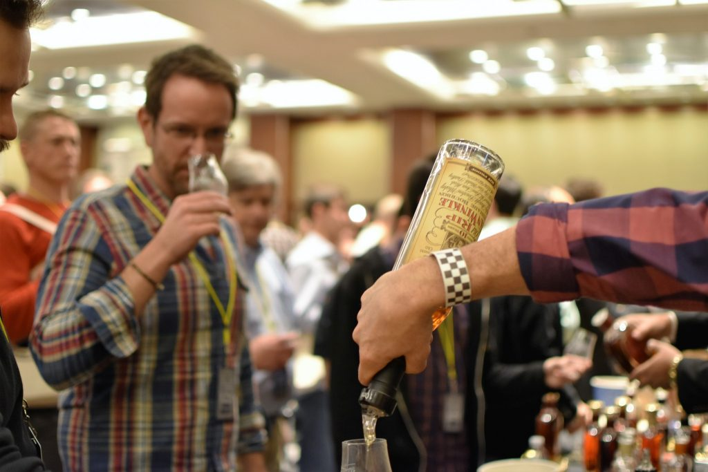 Old Rip Van Winkle 10 year poured at the 2017 Chicago WhiskyFest.