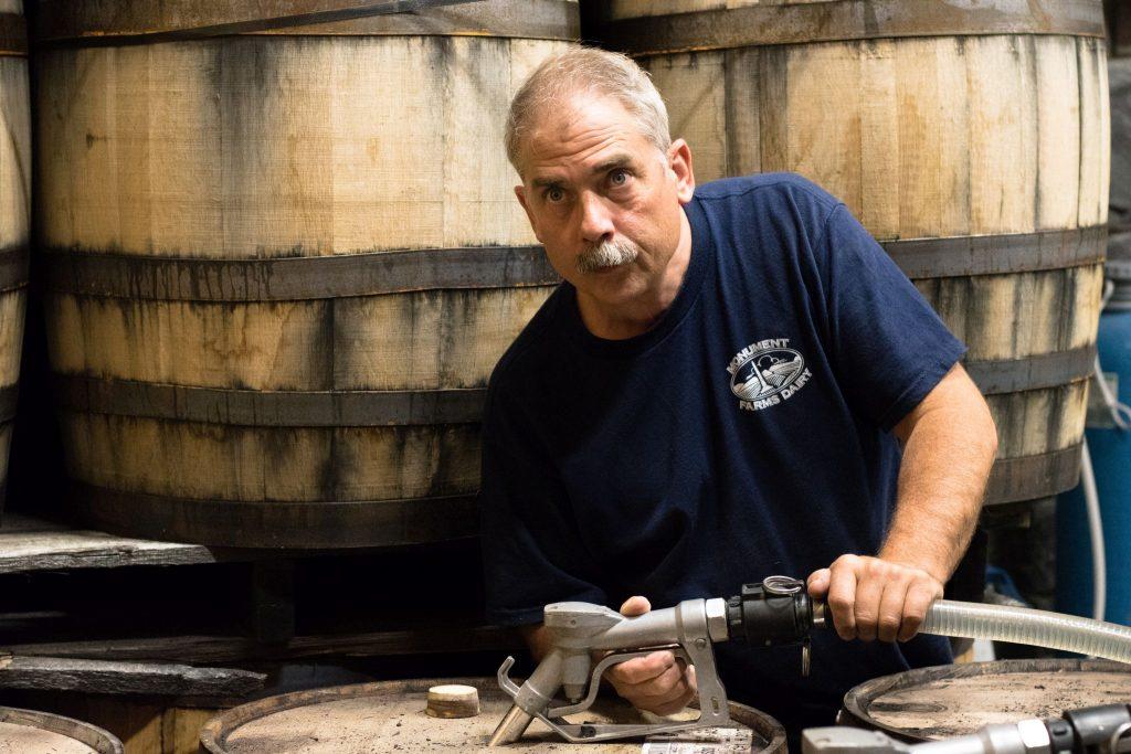 Kevin Filling Barrels