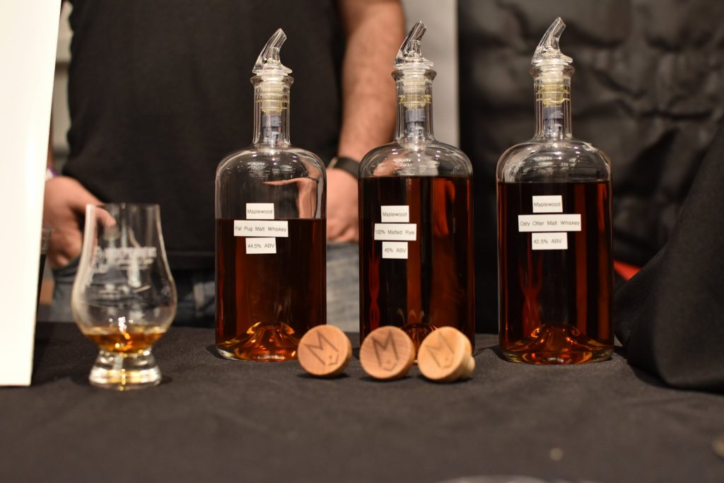 Three whiskeys from Maplewood Brewery & Distillery set for a winter 2017 release