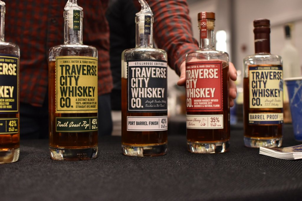 Bourbon, Rye, Port Finished Bourbon, and Cherry Whiskey from Traverse City Whiskey Co.