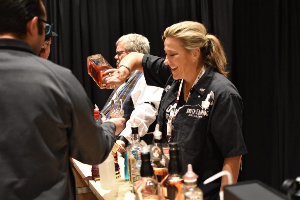 One of the VIP bars pouring Maker's Mark Private Select, Kentucky Peerless, and many others