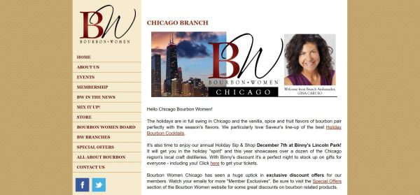Bourbon Women Chicago website