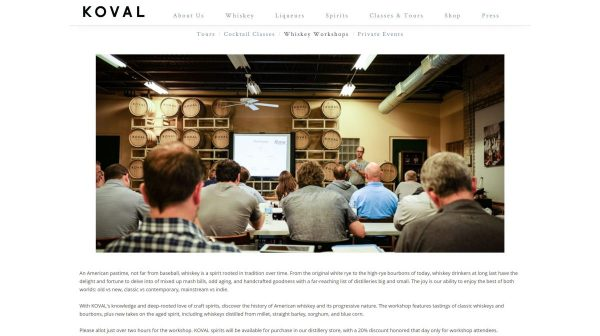 KOVAL Distillery website
