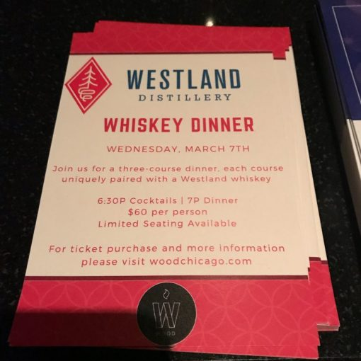 Wood Chicago Westland Dinner