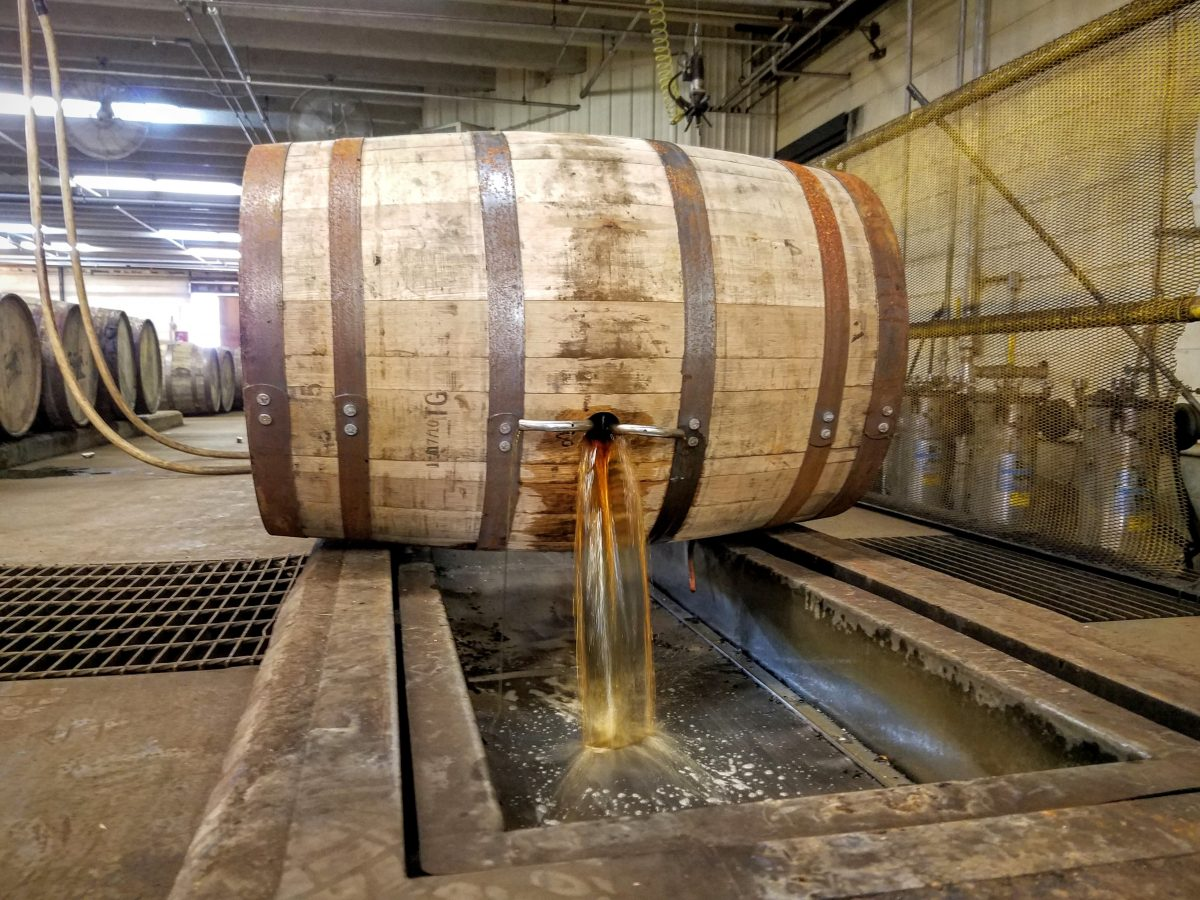 Four Roses Barrel Dump